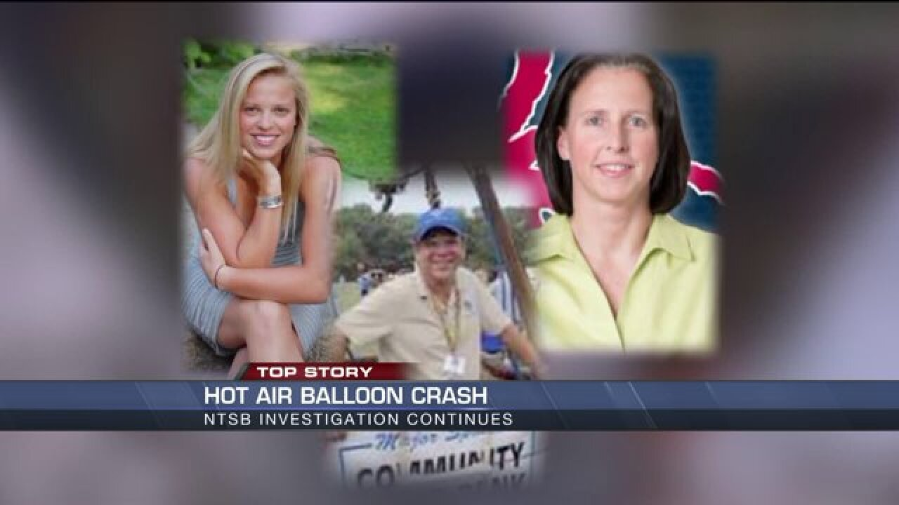 Causes of death released for victims in hot-air balloon accident