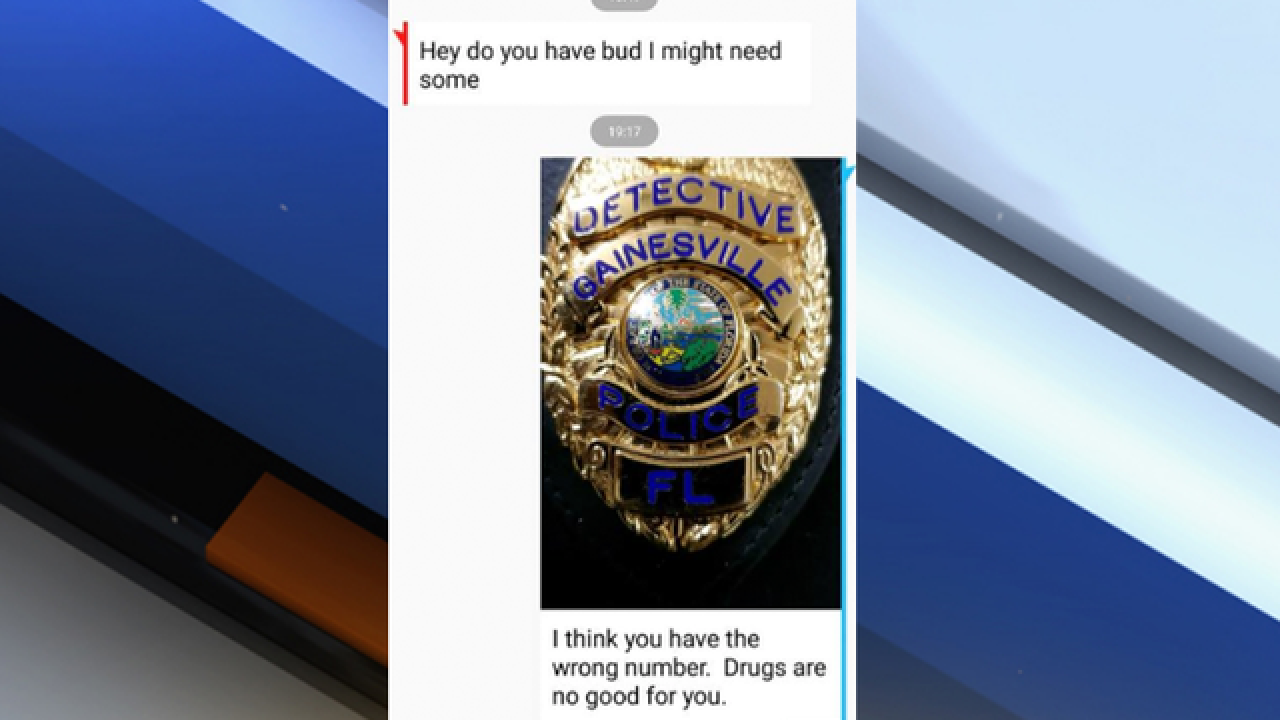 Gainesville Police Department: Don't text us for drugs, they are bad for you
