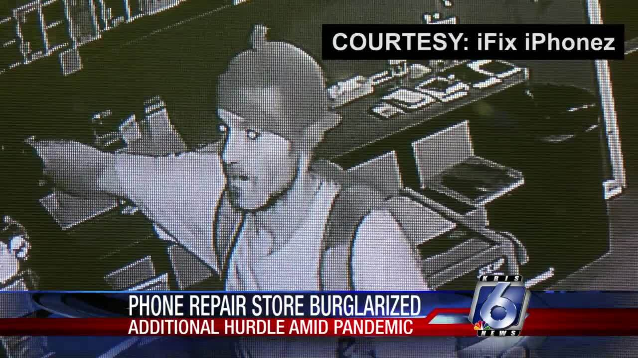 A small business owner is searching for answers after his store was broken into.