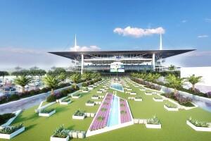 Hard Rock Stadium open-air movie theater rendering