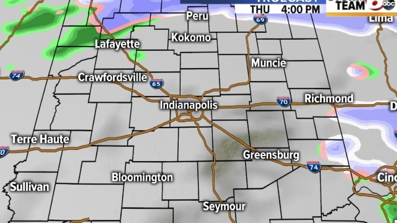 TIMELINE: Snow, rain affecting central Indiana