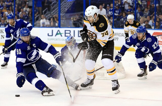 Image result for jake debrusk vs lightning
