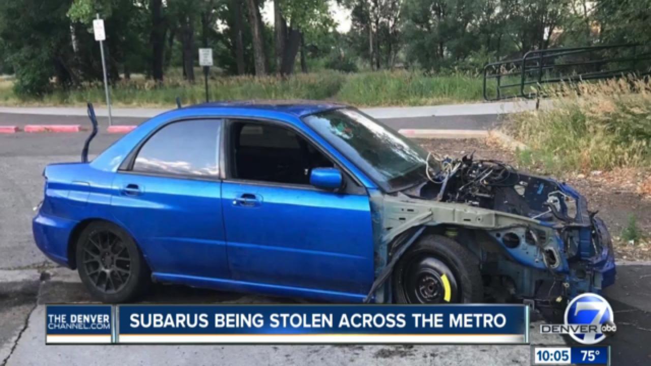 Subarus being stolen in the Denver metro area