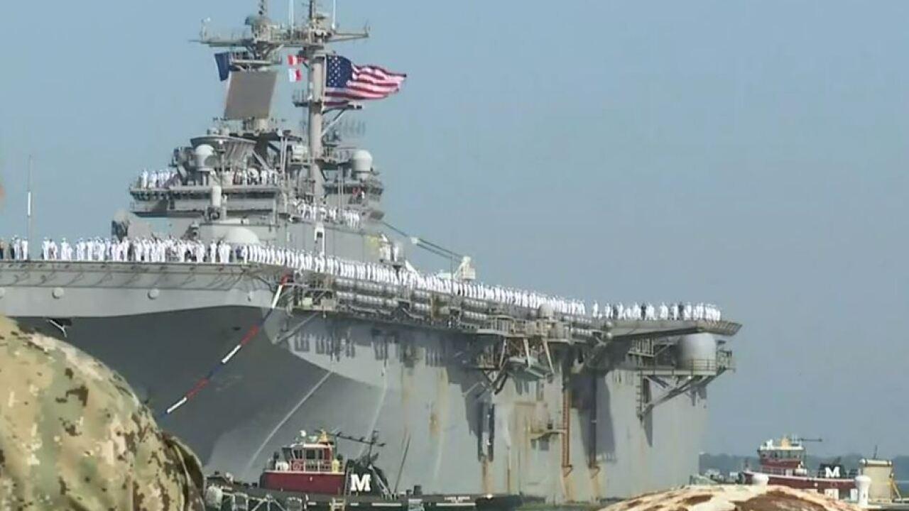 Watch: USS Kearsarge and USS Arlington return toNorfolk