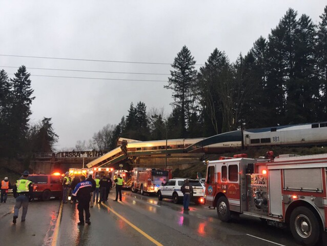 Photos: High-speed Amtrak train derails
