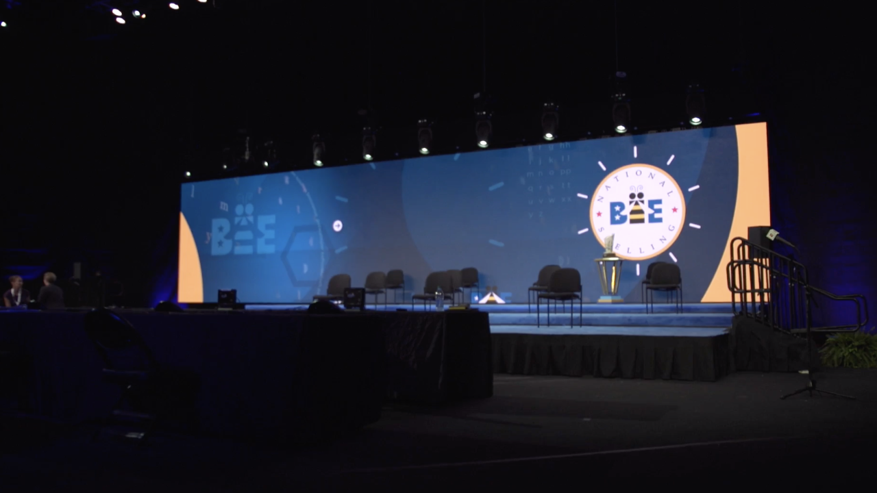 This year's Scripps National Spelling Bee is in a new location this year: at the ESPN Wide World of Sports, near Disney World in Florida.