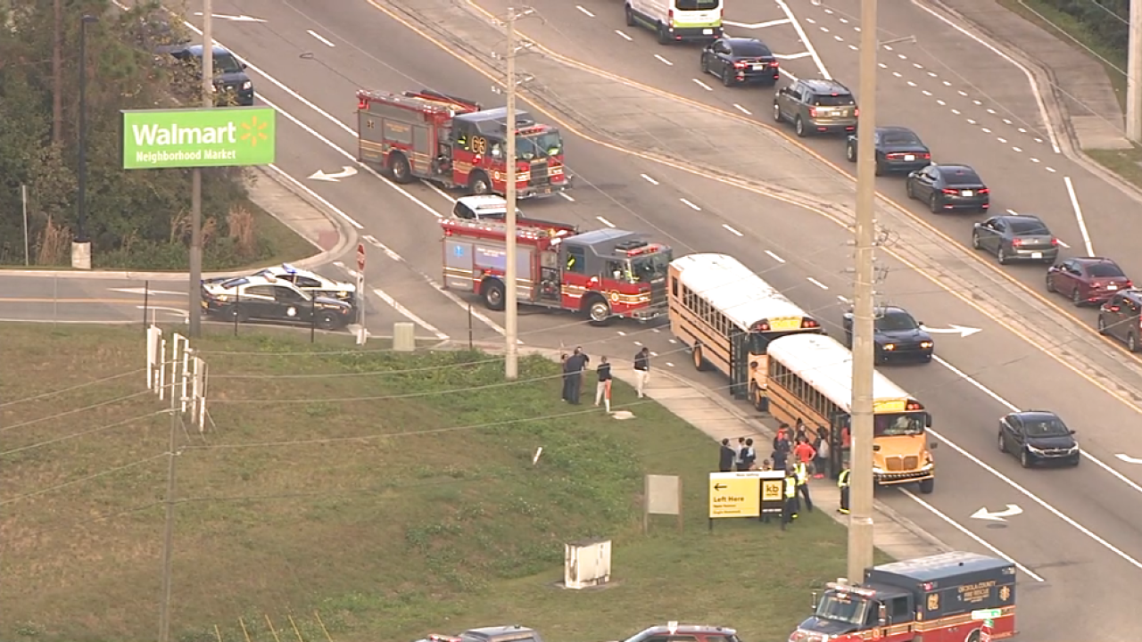 Two School Buses Carrying More Than 70 Students Involved In Crash In Osceola County