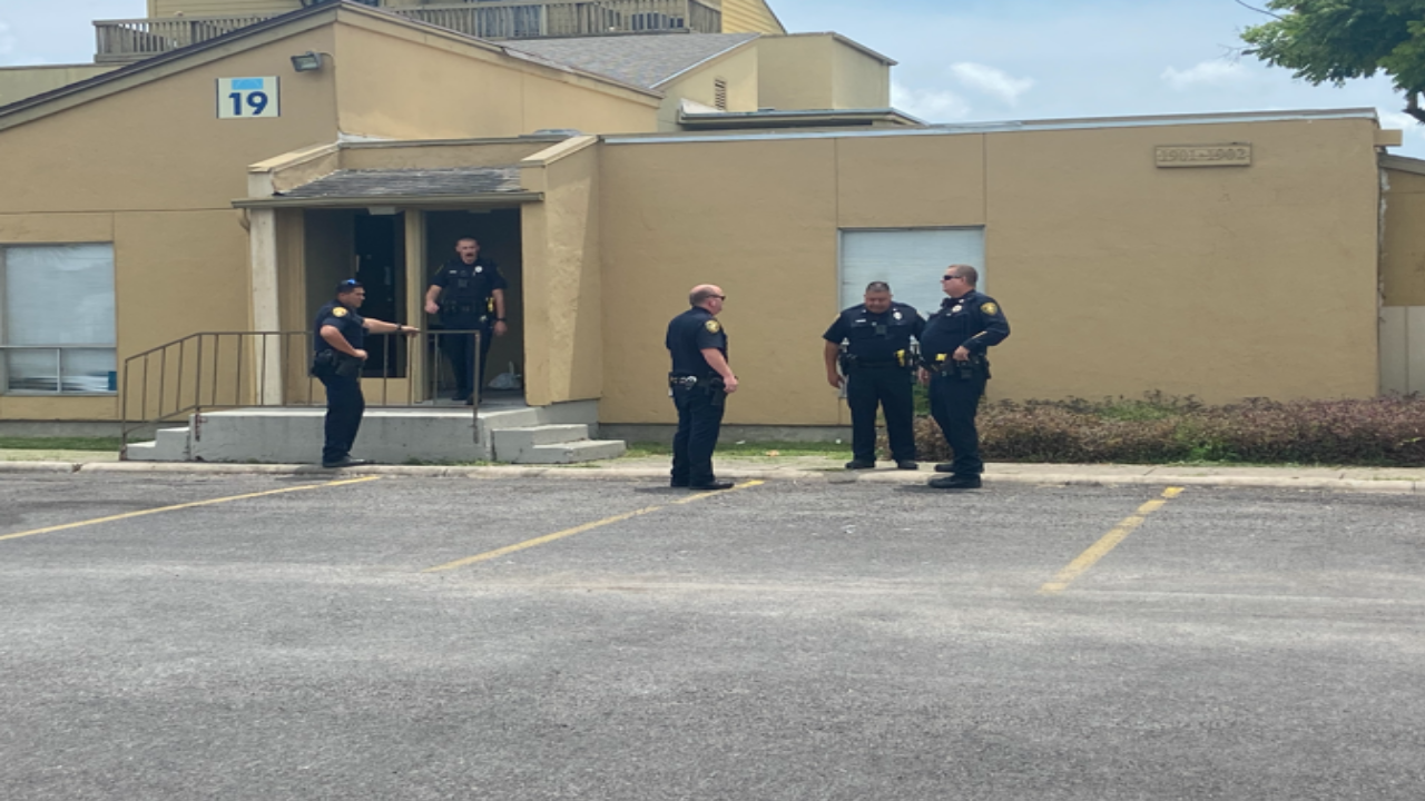 CCPD officers at the scene at the Marbella Apartments