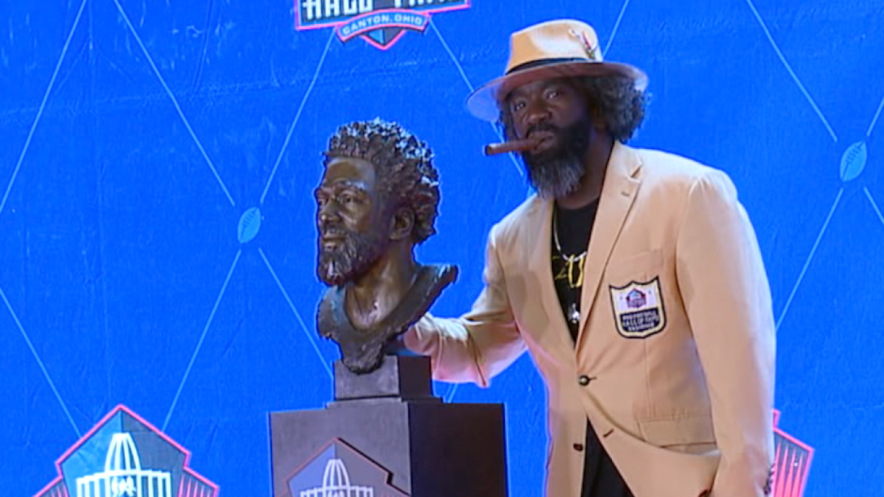 Ed Reed with Bust