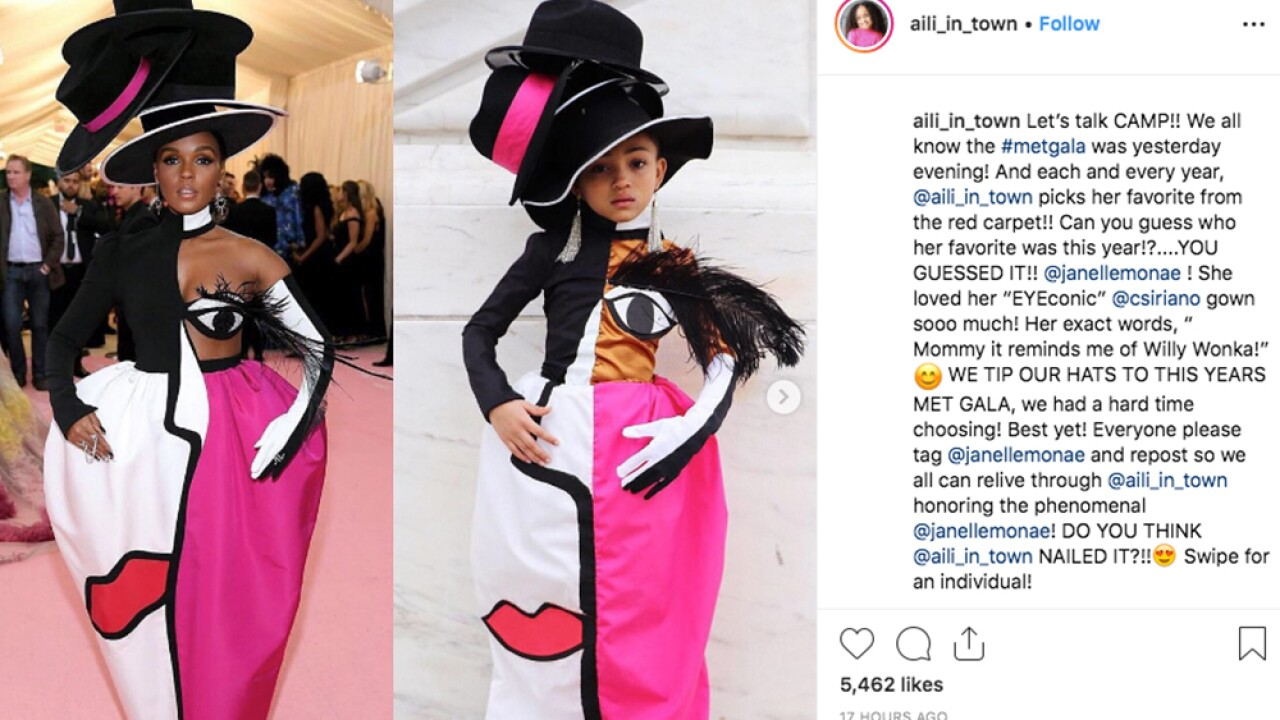 Six-year-old Michigan girl's re-creation of Christian Sirano's Met Gala dress goes viral