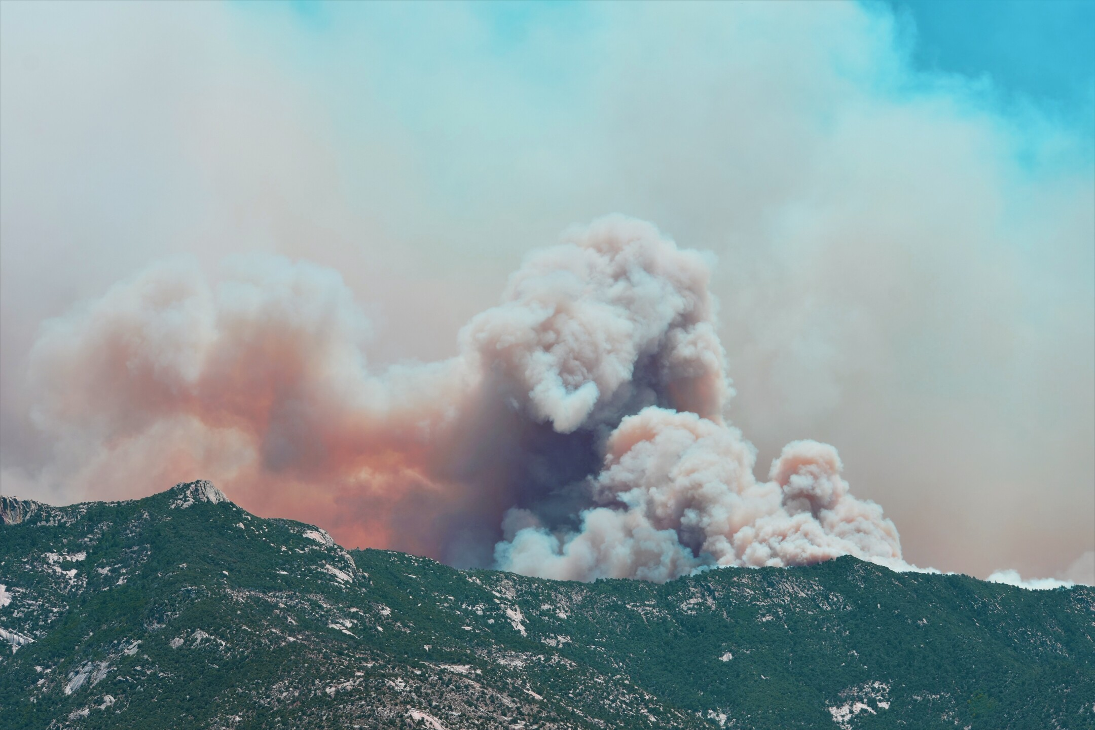 View of the Bighorn Fire and smoke on Wednesday, June 17 as seen from Catalina