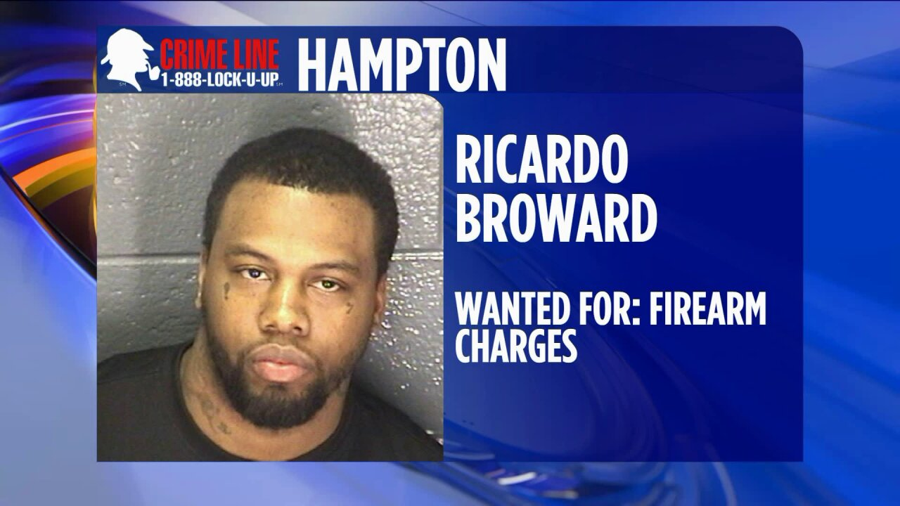 Hampton Police need help finding suspect wanted on firearmcharges