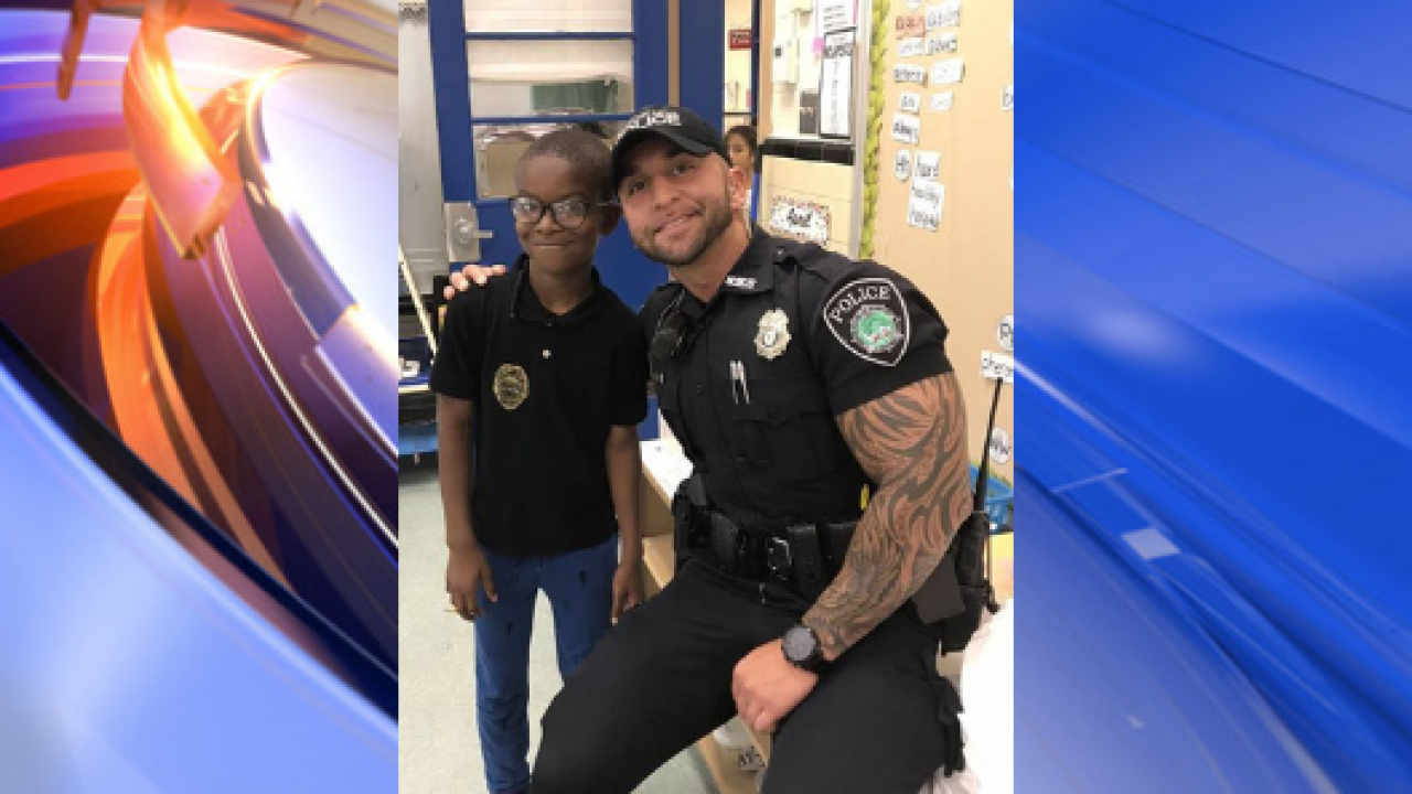 Newport News Police officer thanks boy who gave him Easter dinner