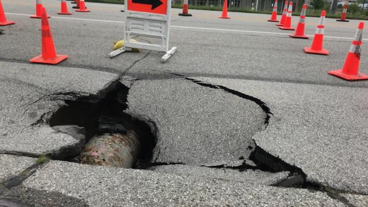 A near 75 degree temperature difference is causing potholes around the Milwaukee area.