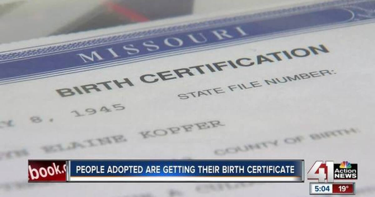 Mo Adoptees Given Access To Original Birth Certificates For First Time