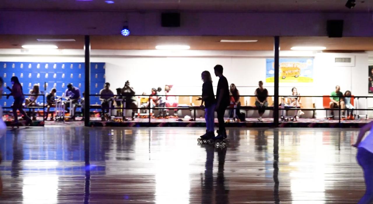 Skaters on the floor at Edru Skate
