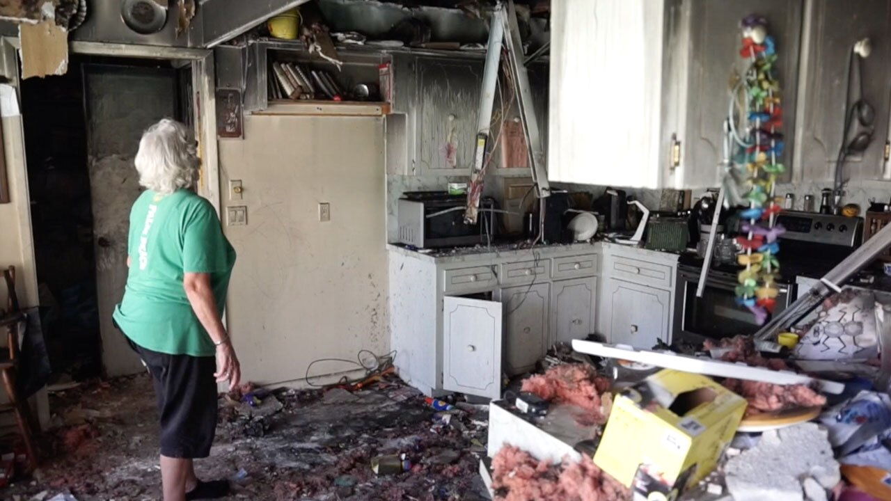 Herbs family home damaged by fire near Lake Worth Beach in March 2020