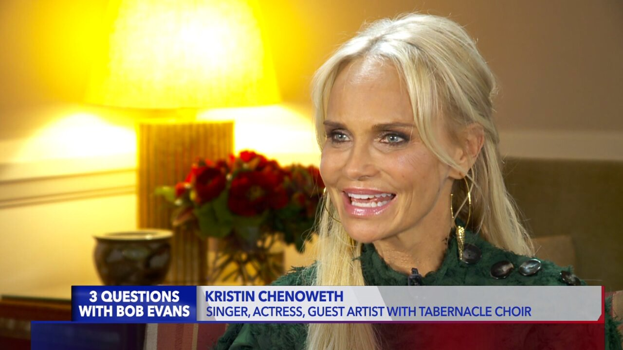 3 Questions with Bob Evans: Actress and singer Kristin Chenoweth on performing with Tabernacle Choir