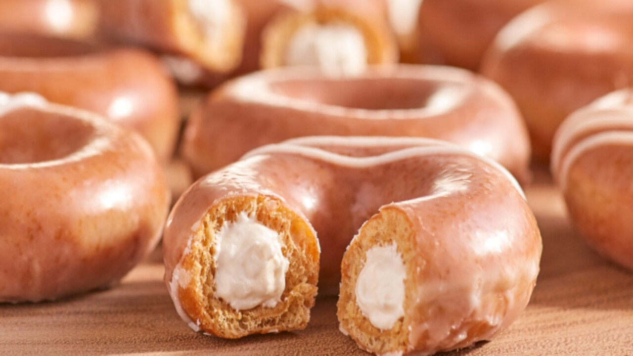 How you can get a free pumpkin spice original filled cheesecake doughnut at Krispy Kreme