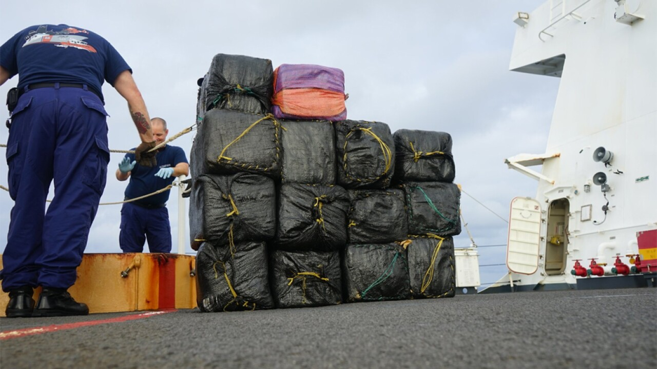 U.S. Coast Cutter Hamilton crew is scheduled to offload approximately 26,000 pounds of seized cocaine and 1,500 pounds of seized marijuana today at Port Everglades, Florida, on June 6, 2019.