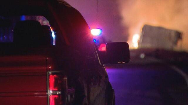 PHOTOS: Fiery Crash Closes I-40 In Dickson County