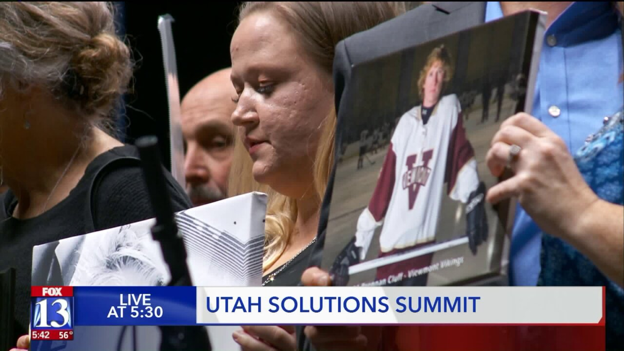 Utah teens converge on Vivint Smart Home Arena to join the fight against Opioids