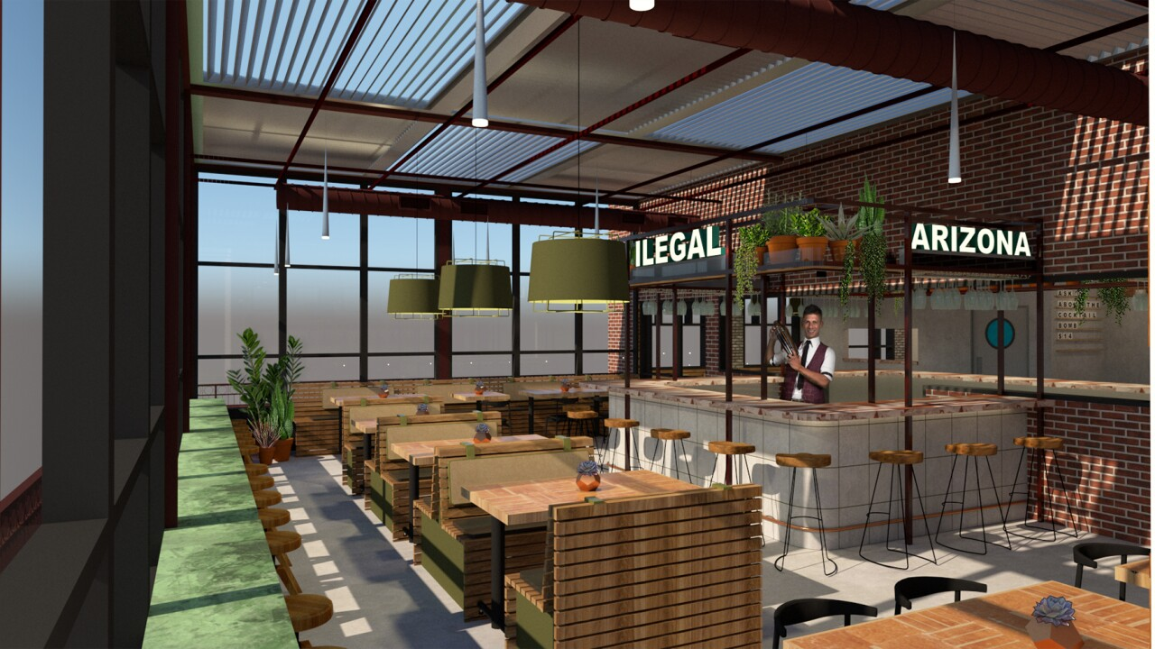 Ilegal Modern Cocktail Kitchen rendering 3