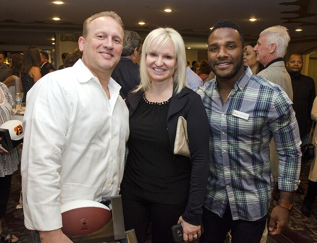 Andy Dalton mingles for a good cause at Celebrity Waiter Night