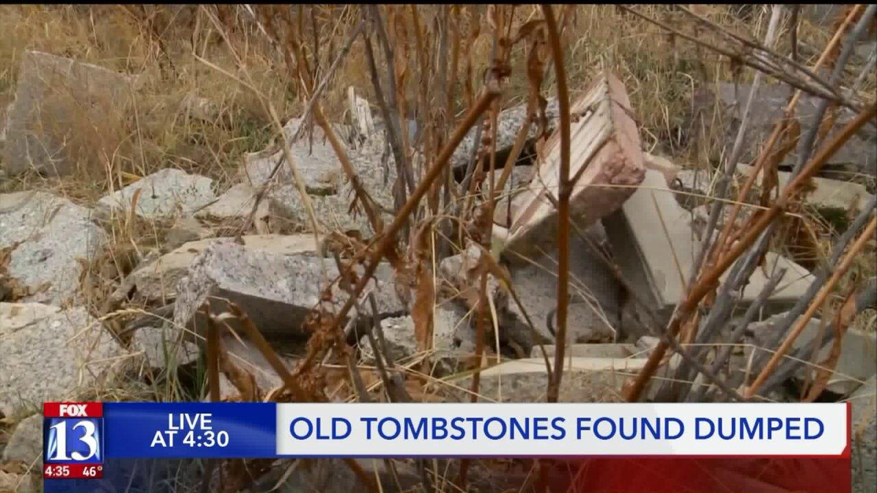 South Ogden man finds 'graveyard' ofheadstones