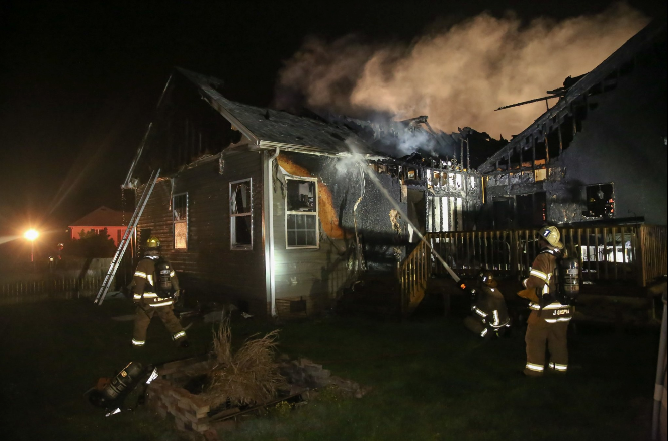 Photos: Five people, two pets displaced after house fire in Currituck County