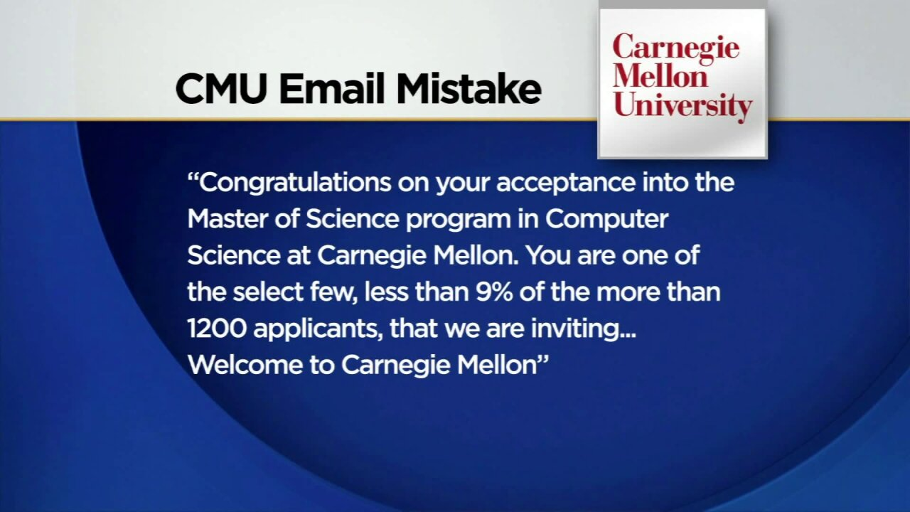 Yes, you've been accepted into Carnegie Mellon. Just kidding!