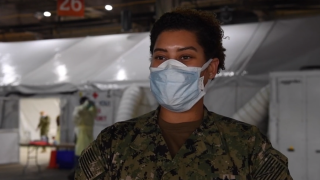 Hampton native onboard the USNS Comfort.PN