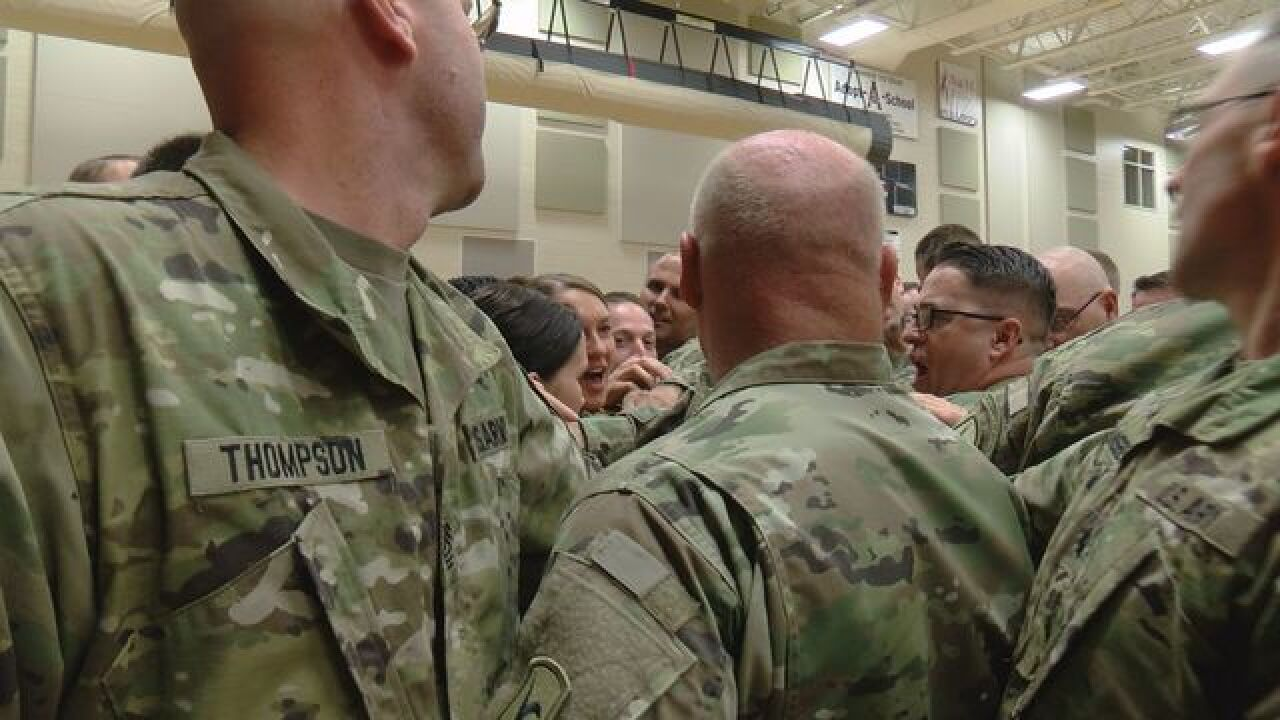 Families Say Goodbye to Nebraska National Guard Unit on Deployment in Cuba