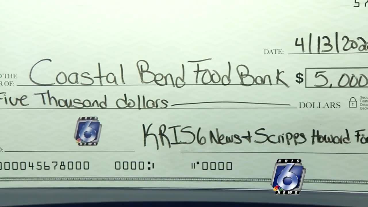 Gift from KRIS, KZTV and KAJA to the Coastal Bend Food Bank