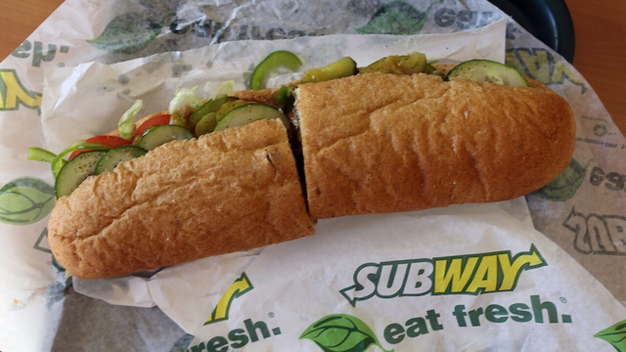 Subway posts calories nationally