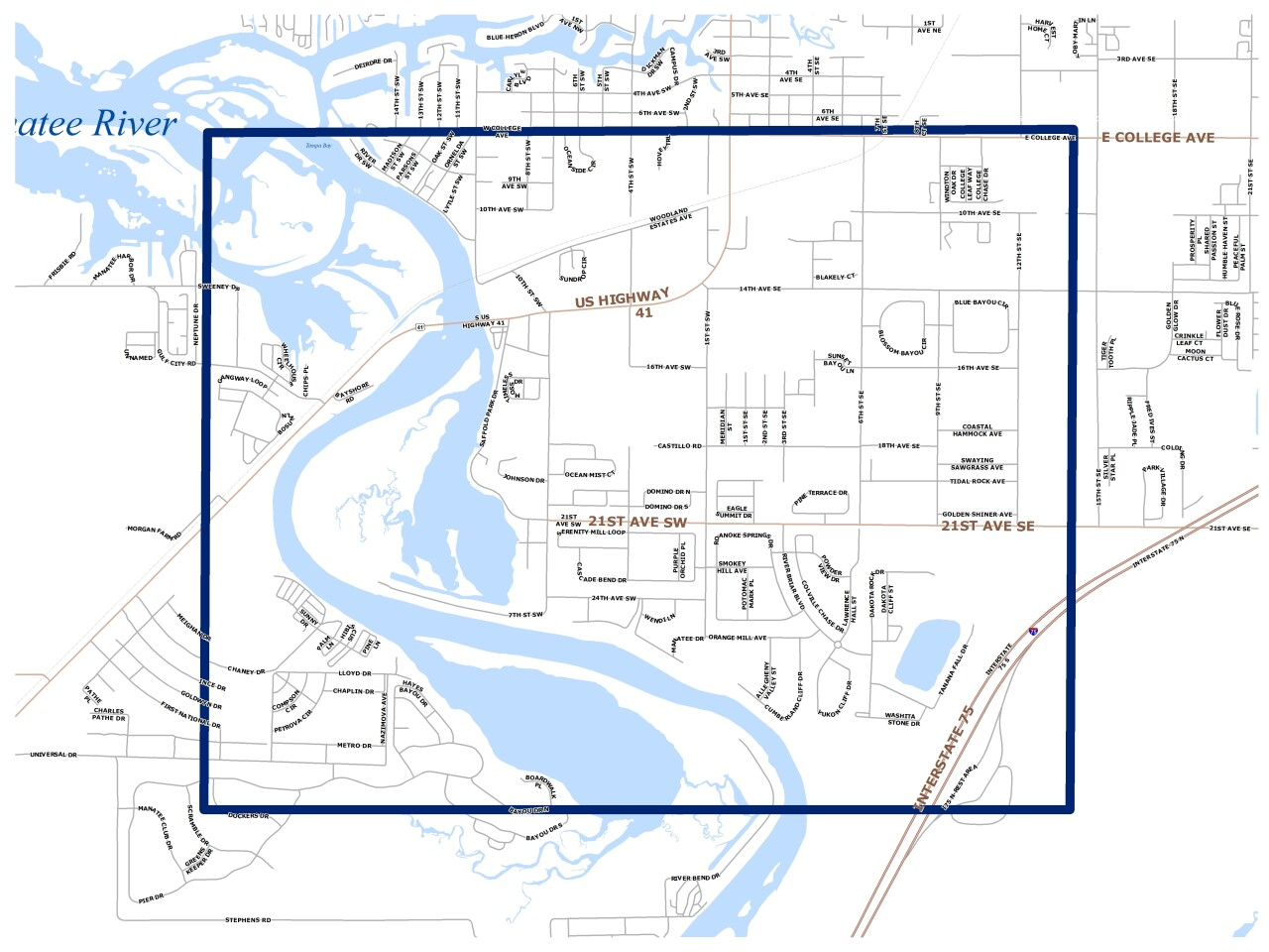 Map of boil notice