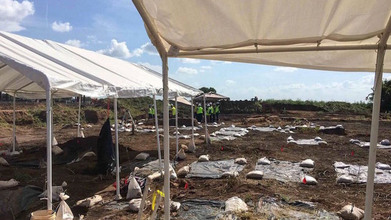 Long-buried remains of 95 people found at Texas school district construction site