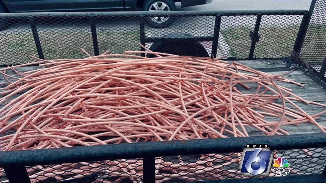 Stolen copper retrieved by San Patricio County Sheriff's Office