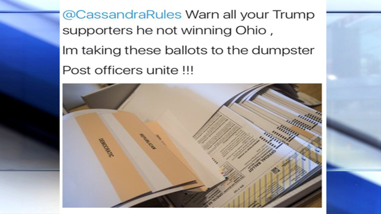 USPS says Ohio postal workers are not destroying Trump absentee ballots after tweet goes viral