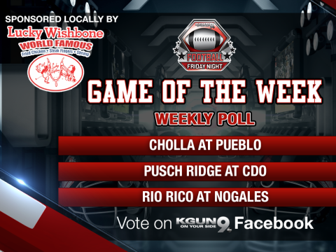Vote for your favorite team match-up in the Lucky Wishbone Football Friday Night Poll!