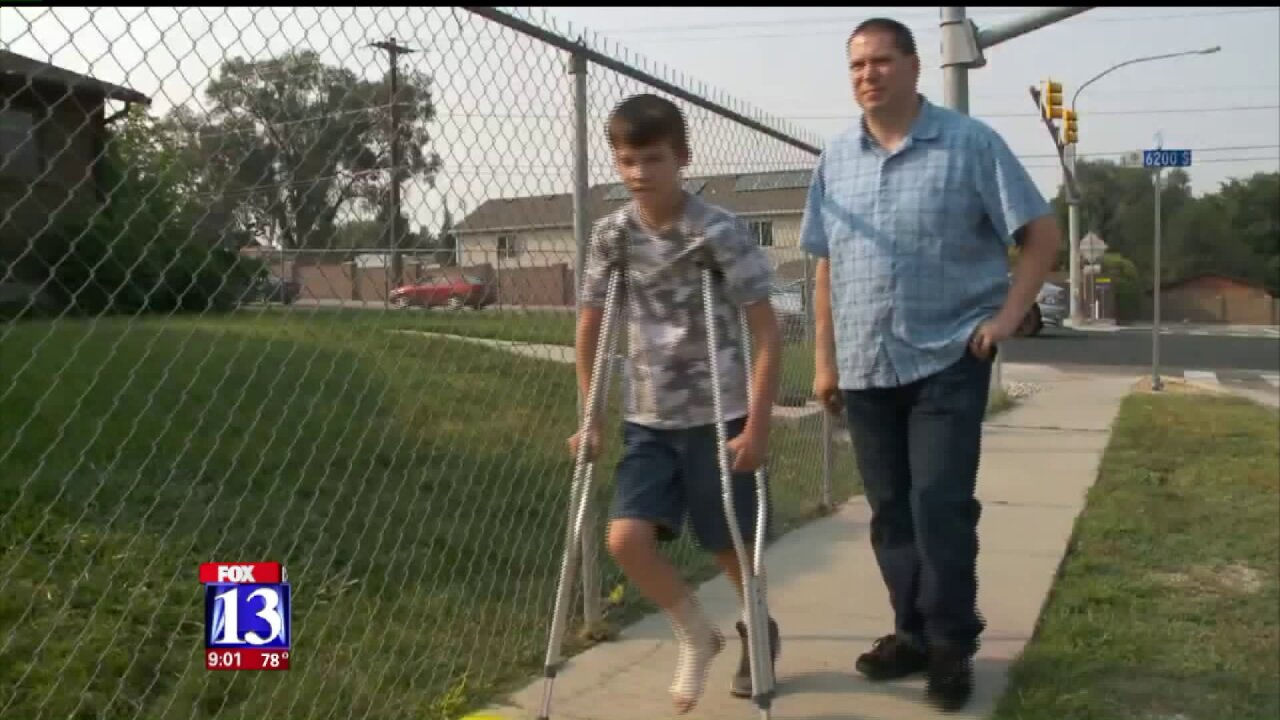11-year-old boy injured in Taylorsville hit-and-run speaks