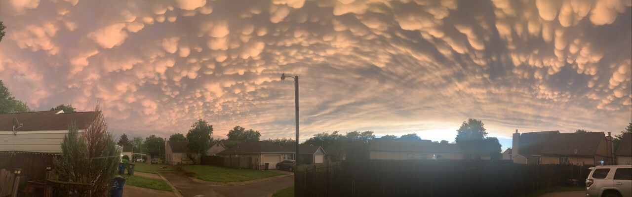 Mammatus Clouds after the storm