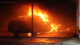 Palm Dr. car fire