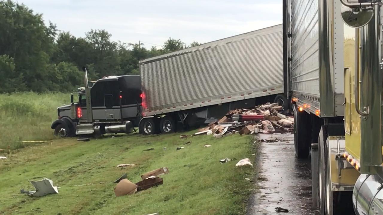 Multi-semi crash on Will Rogers Turnpike