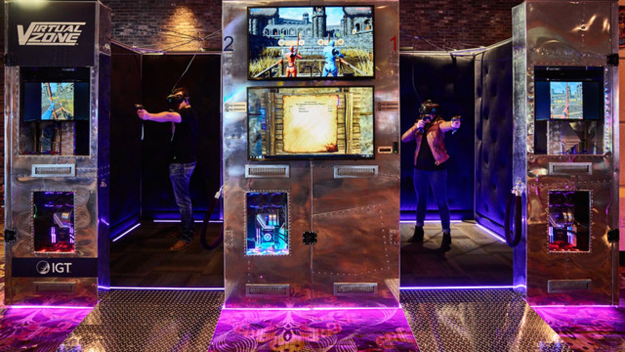 Shoot a bow and arrow in a Las Vegas casino