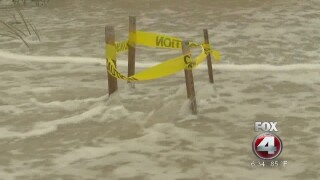 Storm surge destroying turtle nests in Collier