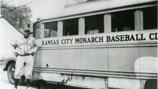 Frank Duncan with KC Monarch Bus ca 1940s--Earl Taborn Collection.jpg