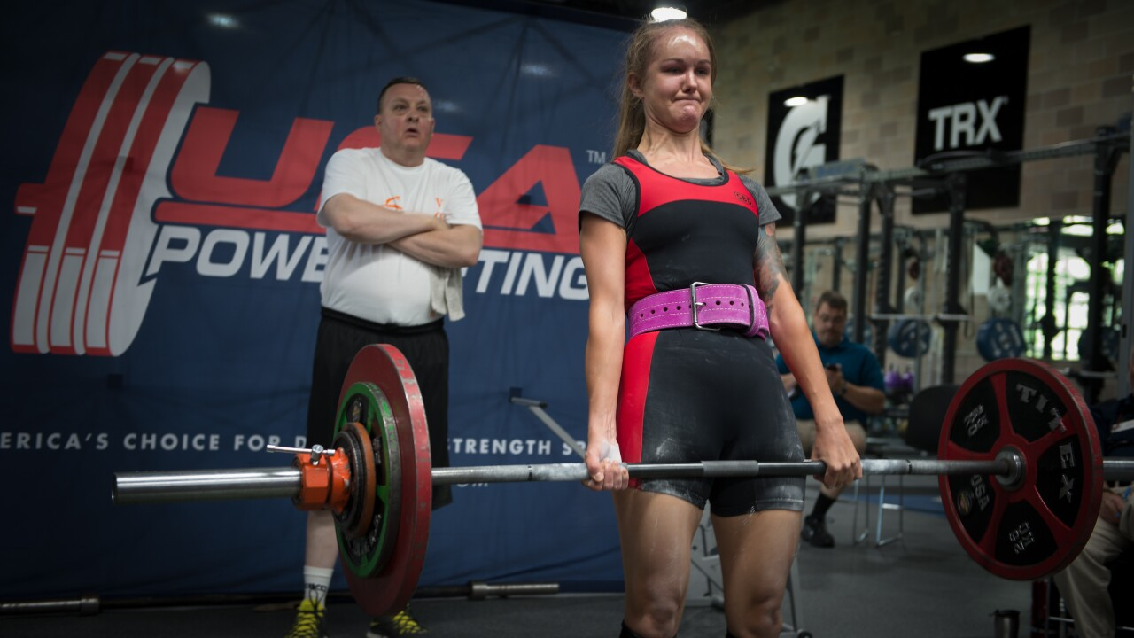 Powerlifting competition at the 2018 Rocky Mountain State Games
