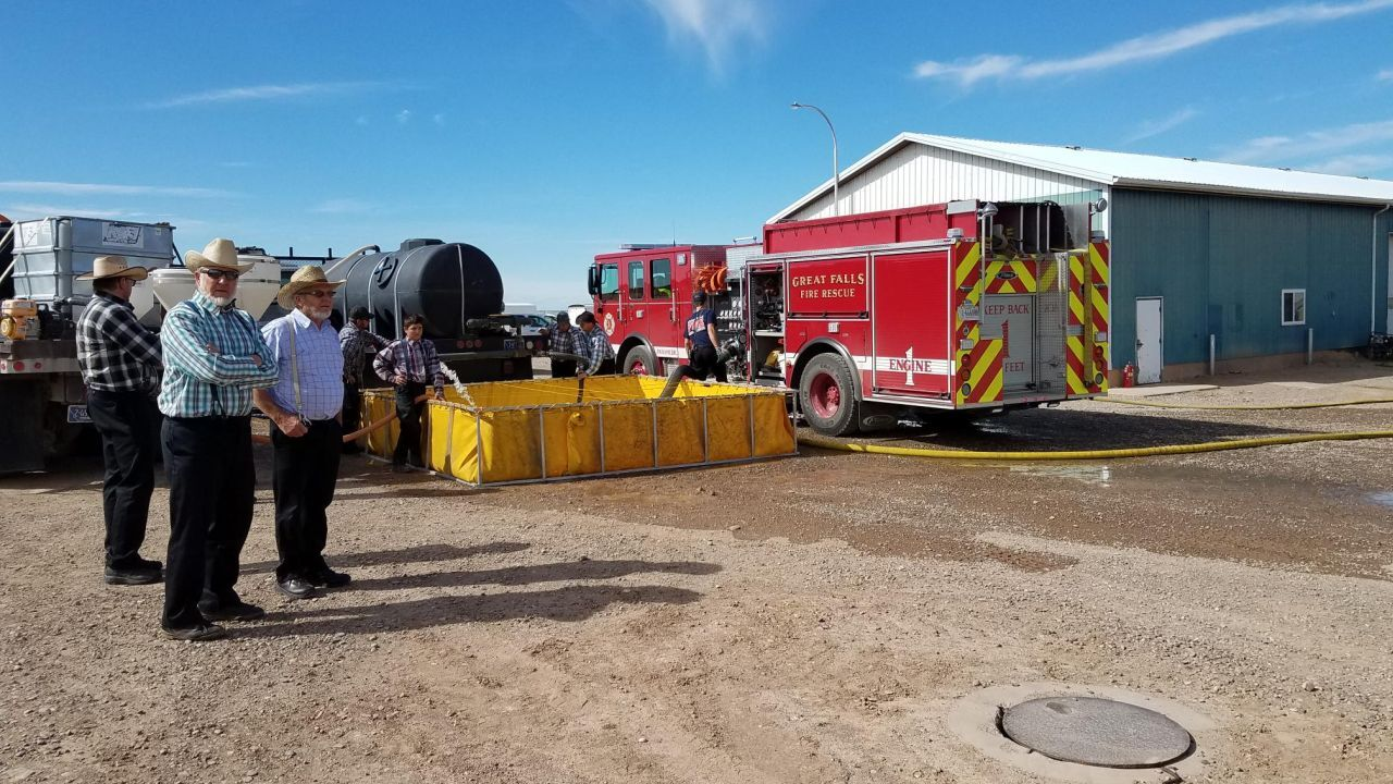 Emergency crews respond to structure fire SE of Great Falls