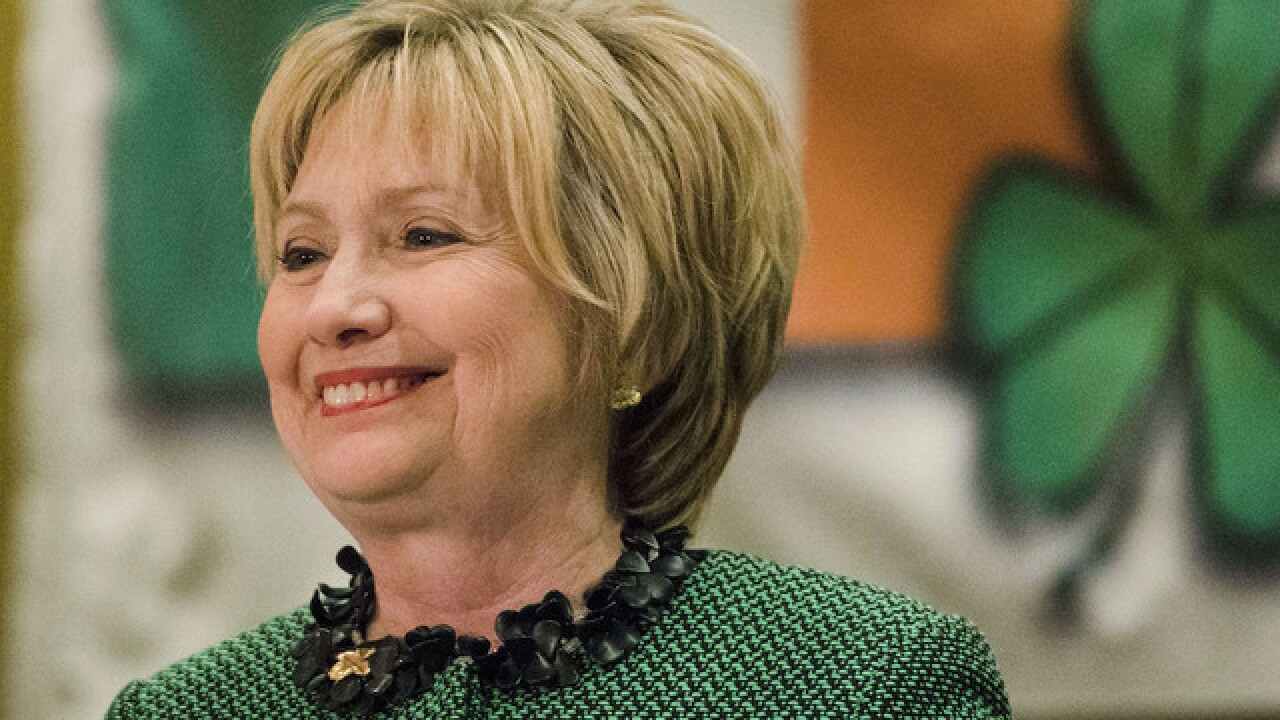 Hillary Clinton says she's 'ready to come out of the woods' at St. Patrick's Day event
